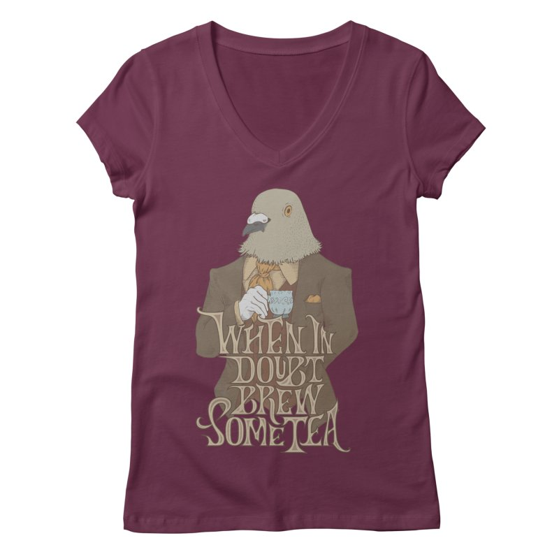 Brew Some Tea Women's V-Neck by Wolf Bite Shop