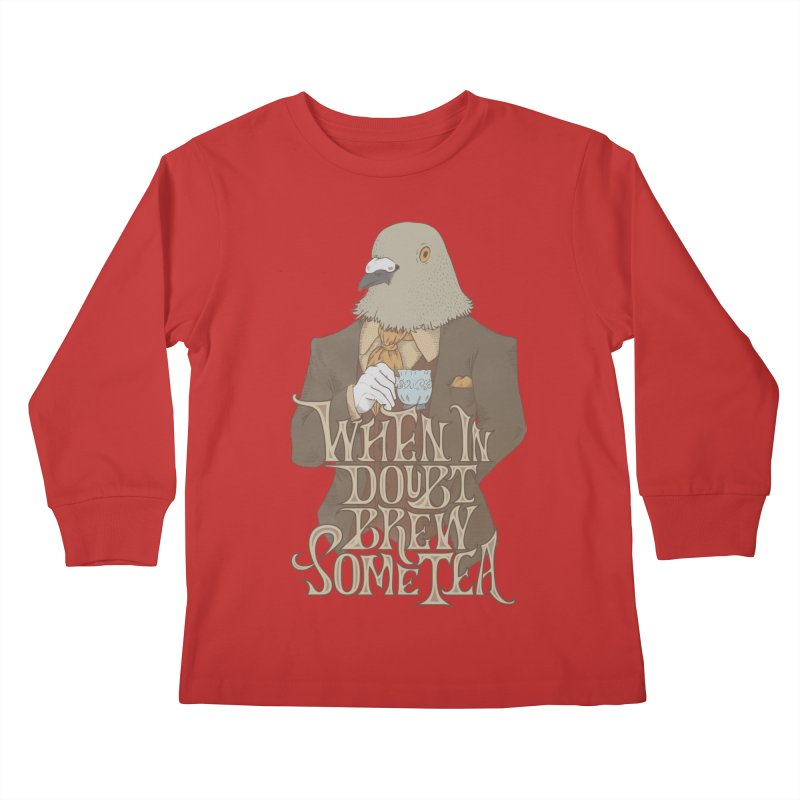 Brew Some Tea Kids Longsleeve T-Shirt by Wolf Bite Shop