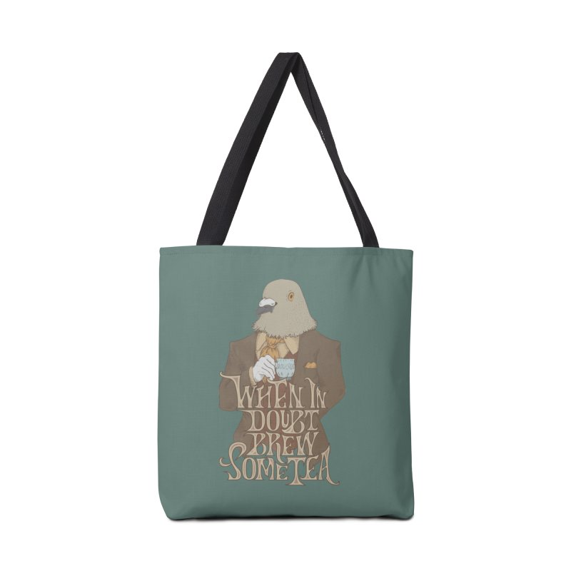Brew Some Tea Accessories Tote Bag Bag by Wolf Bite Shop