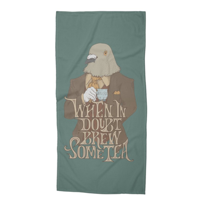 Brew Some Tea Accessories Beach Towel by Wolf Bite Shop