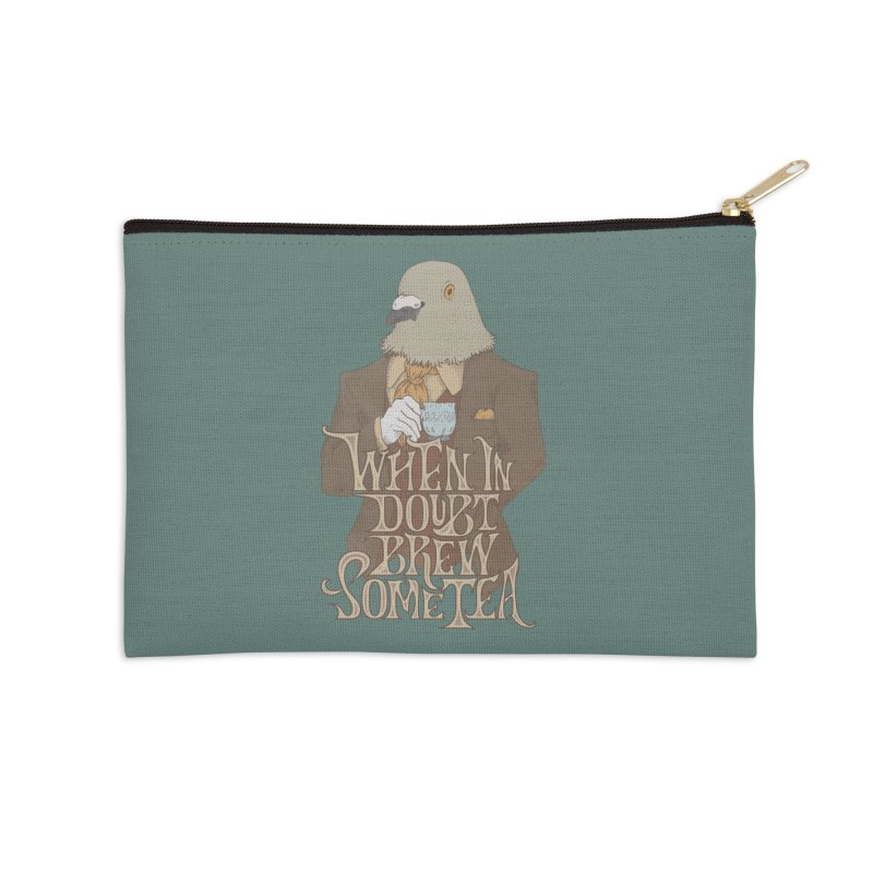 Brew Some Tea Accessories Zip Pouch by Wolf Bite Shop