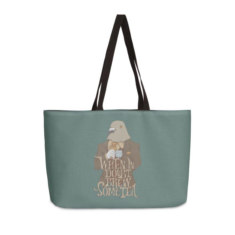 Brew Some Tea Accessories Weekender Bag Bag by Wolf Bite Shop