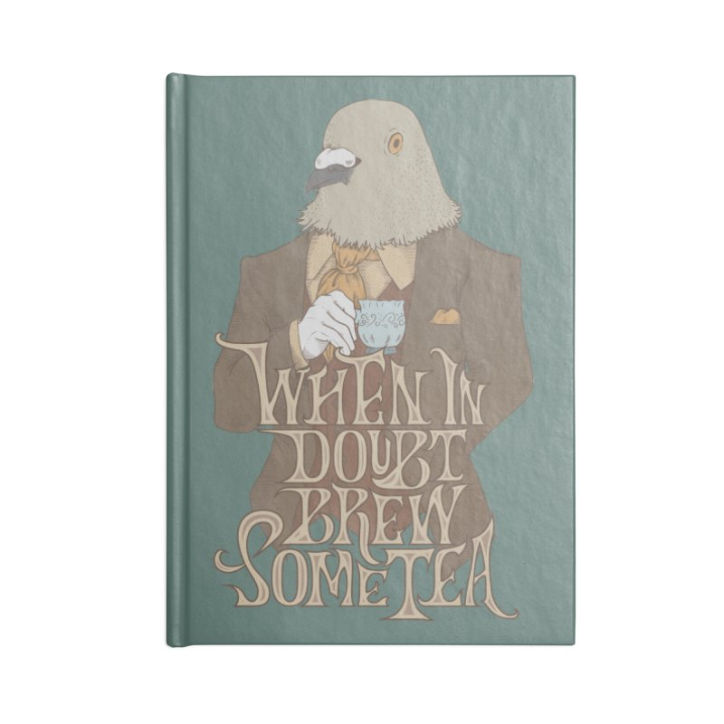Brew Some Tea Accessories Lined Journal Notebook by Wolf Bite Shop