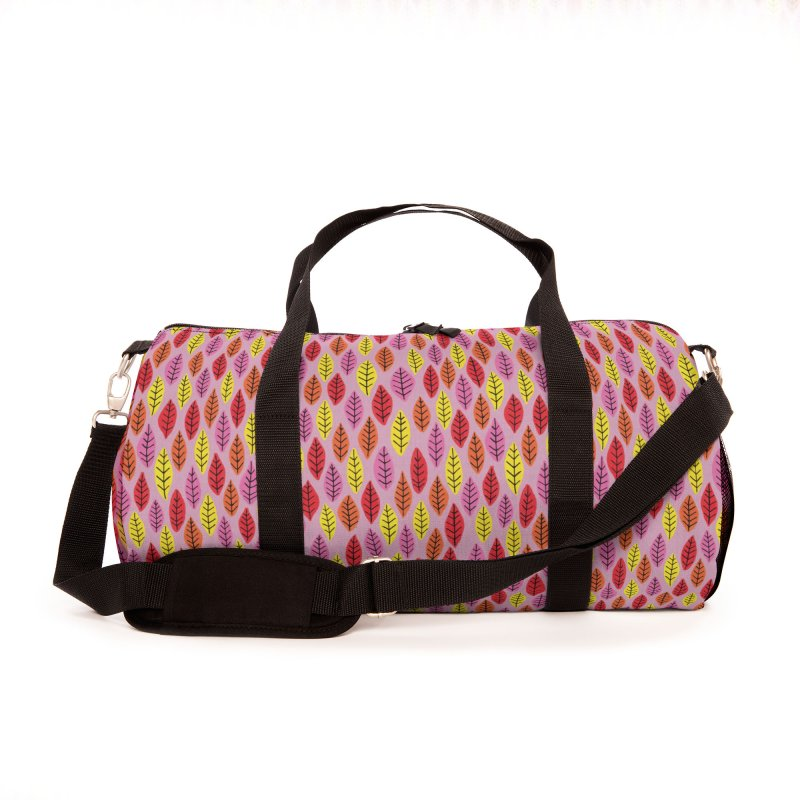 Bright Leaf Print on Pink Accessories Bag by Zoe Chapman Design