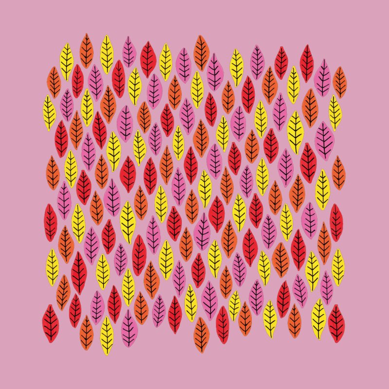 Bright Leaf Print on Pink Men's T-Shirt by Zoe Chapman Design