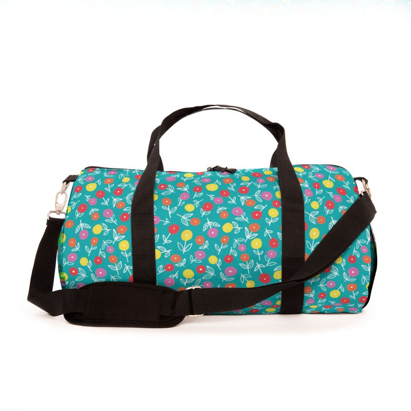 SPRING FLORAL DISTY ON TEAL Accessories Bag by Zoe Chapman Design