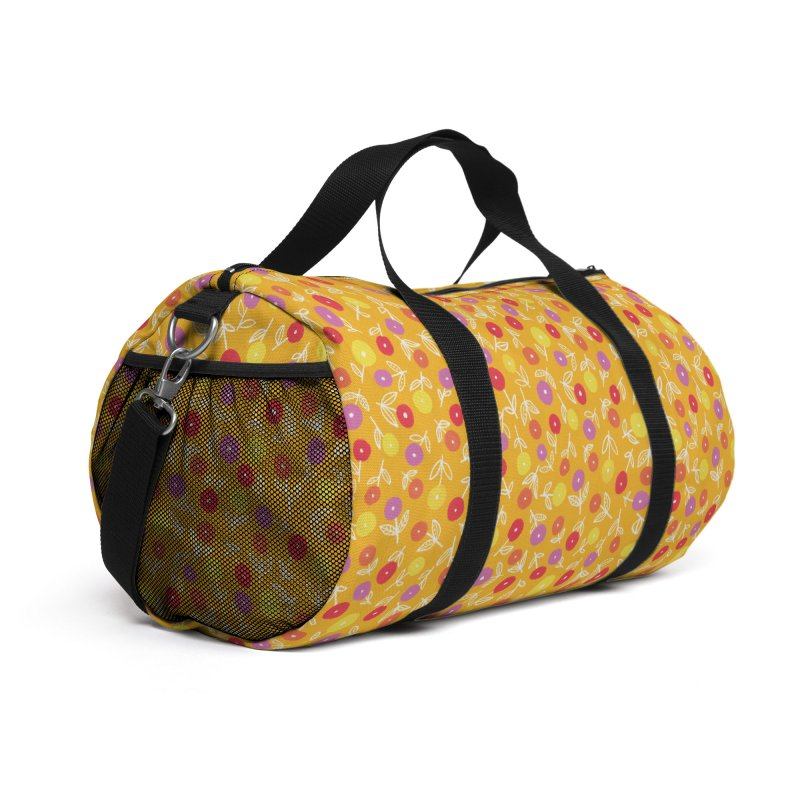 Spring Floral on Yellow Accessories Bag by Zoe Chapman Design
