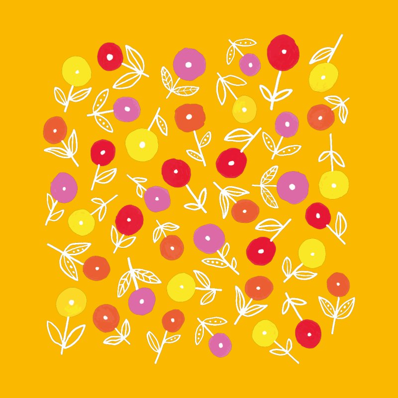 Spring Floral on Yellow Men's T-Shirt by Zoe Chapman Design