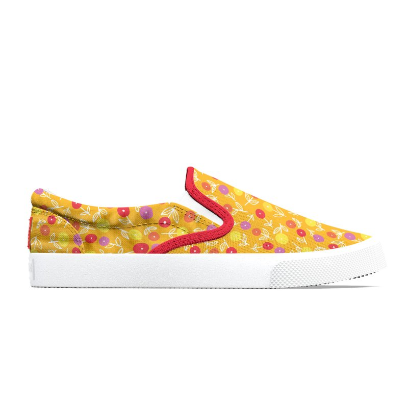 Spring Floral on Yellow Men's Shoes by Zoe Chapman Design