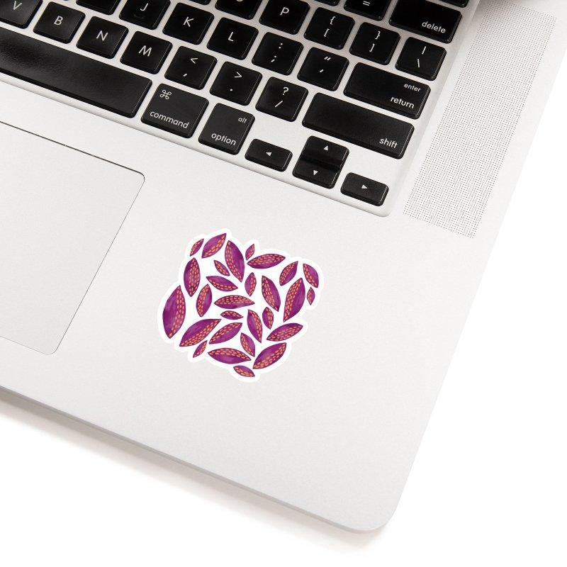 Purple & Lilac Autumn Leaves Accessories Sticker by Zoe Chapman Design