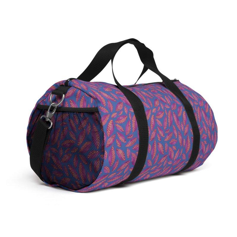 Autumn Leaves: Purple & Blue Accessories Bag by Zoe Chapman Design