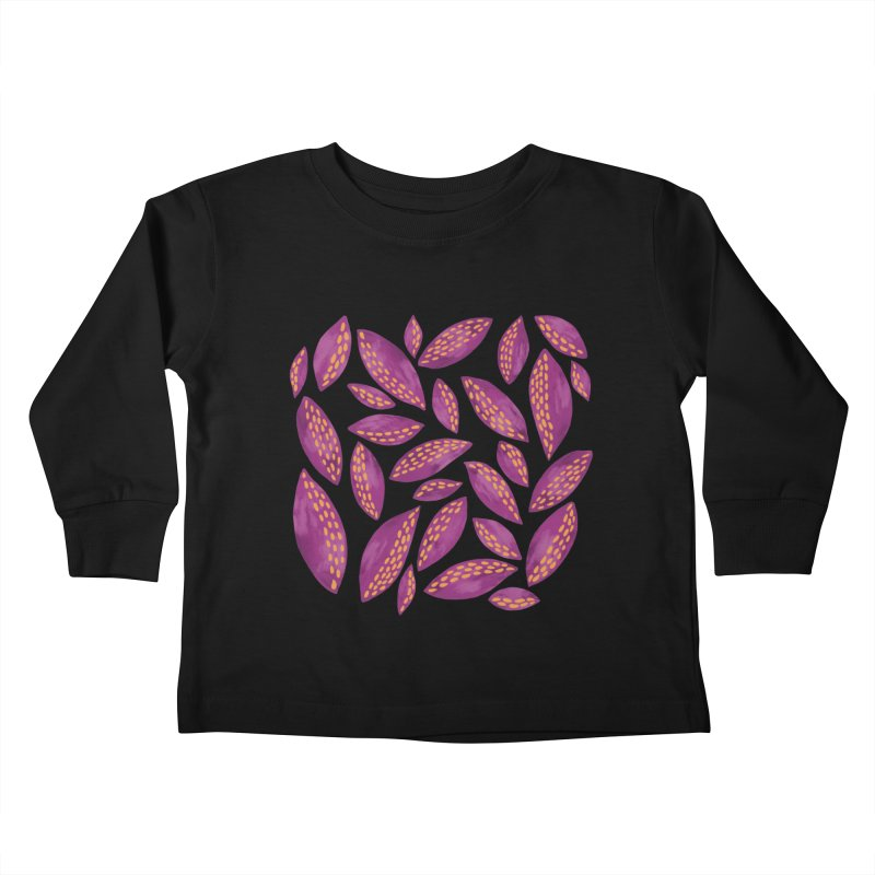 Autumn Leaves: Purple & Blue Kids Toddler Longsleeve T-Shirt by Zoe Chapman Design