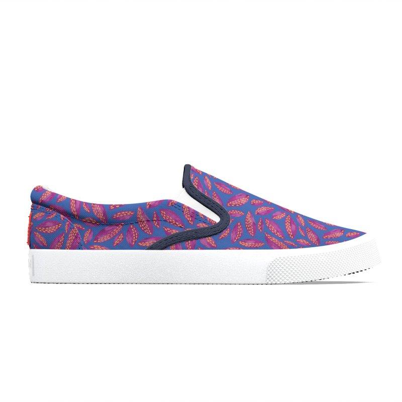 Autumn Leaves: Purple & Blue Men's Shoes by Zoe Chapman Design