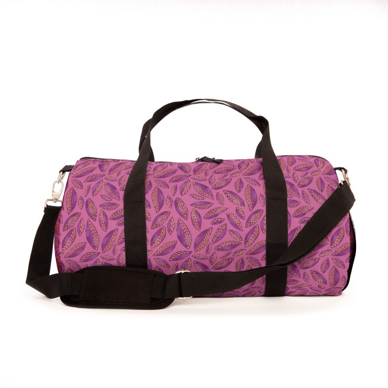 Autumn Leaves on Pink Accessories Bag by Zoe Chapman Design
