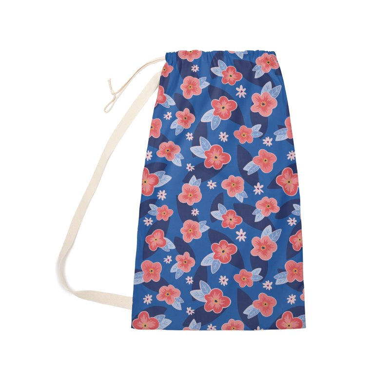 Peach Blooms Accessories Bag by Zoe Chapman Design