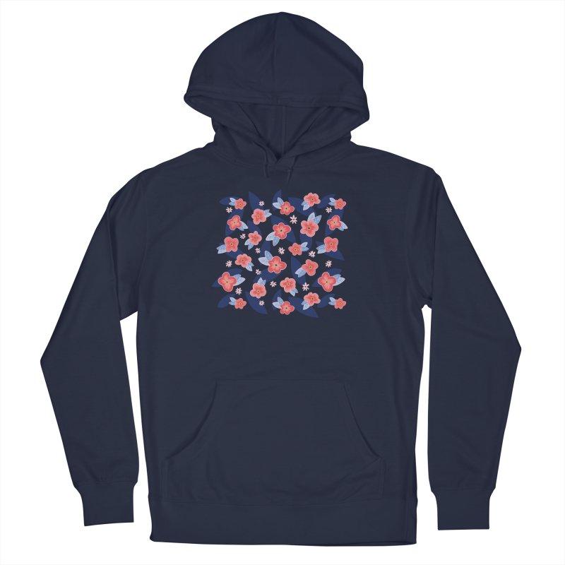 Peach Blooms Men's Pullover Hoody by Zoe Chapman Design