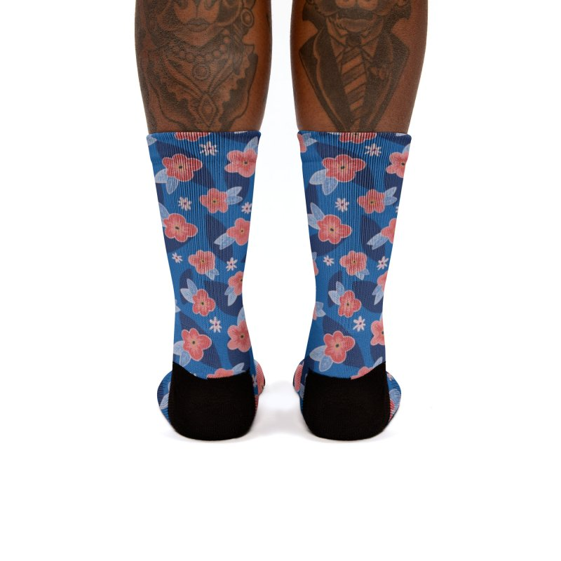 Peach Blooms Women's Socks by Zoe Chapman Design
