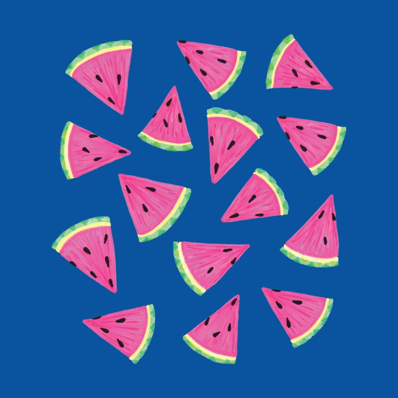 Watermelon Crush on Blue Men's T-Shirt by Zoe Chapman Design