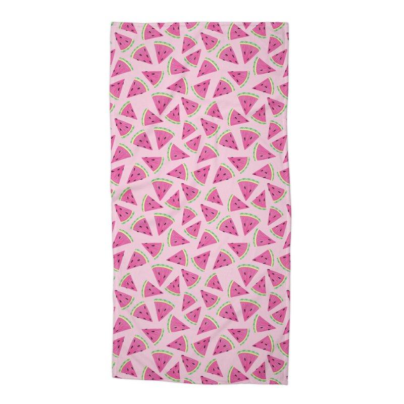 Watermelon Crush: Pale Pink Accessories Beach Towel by Zoe Chapman Design