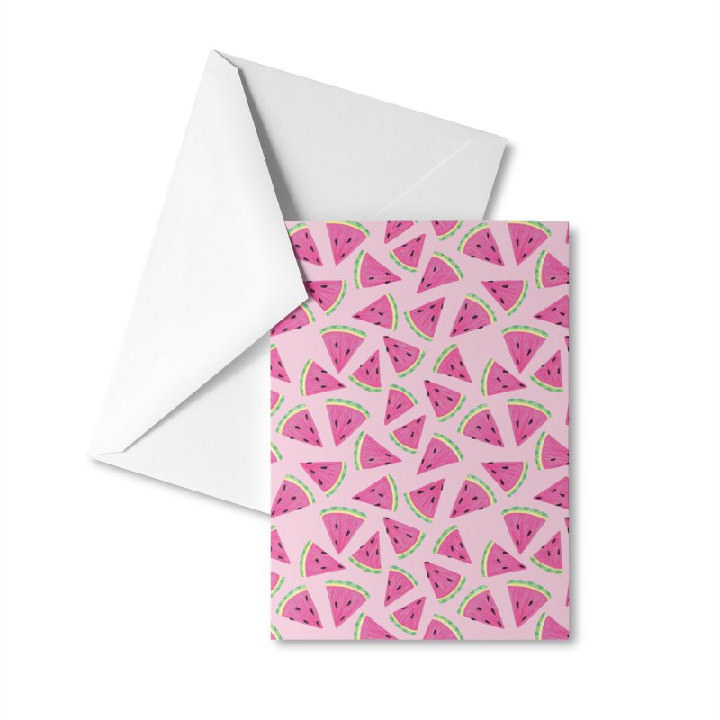 Watermelon Crush: Pale Pink Accessories Greeting Card by Zoe Chapman Design