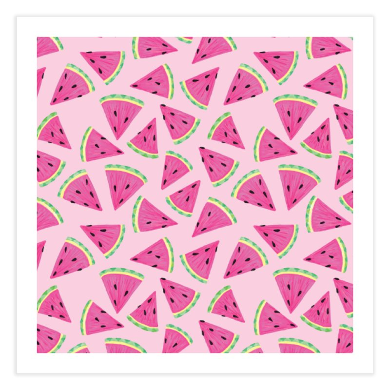Watermelon Crush: Pale Pink Home Fine Art Print by Zoe Chapman Design