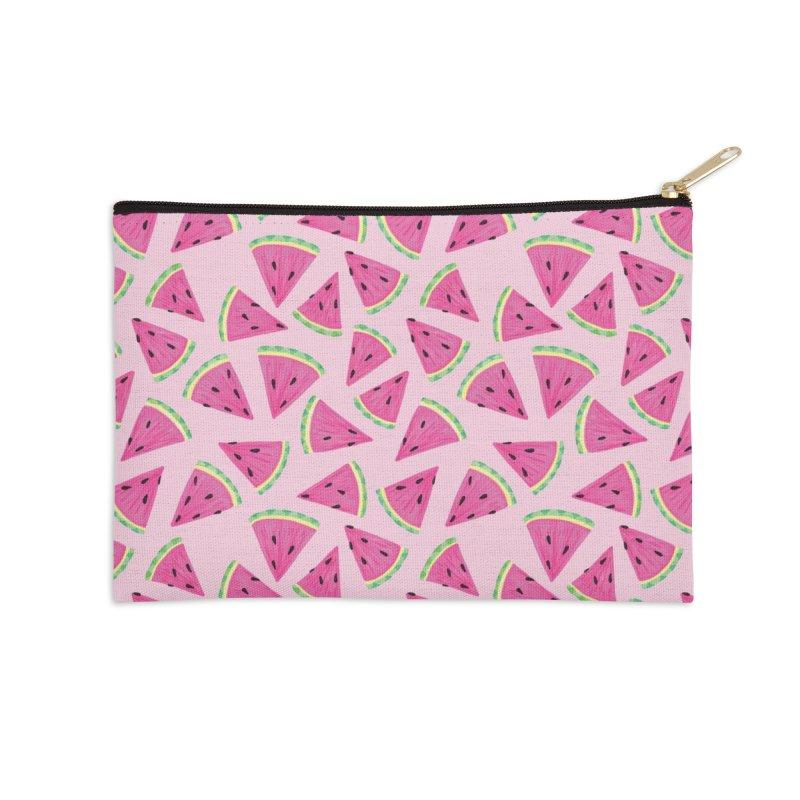 Watermelon Crush: Pale Pink Accessories Zip Pouch by Zoe Chapman Design