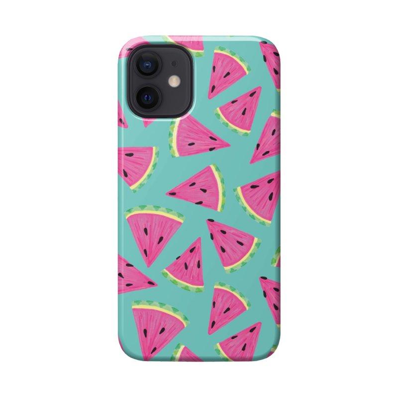 Watermelon Fruit Crush: Dark Mint Accessories Phone Case by Zoe Chapman Design