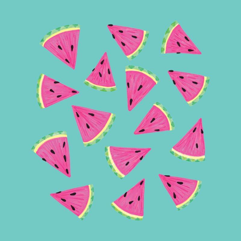 Watermelon Fruit Crush: Dark Mint Men's T-Shirt by Zoe Chapman Design