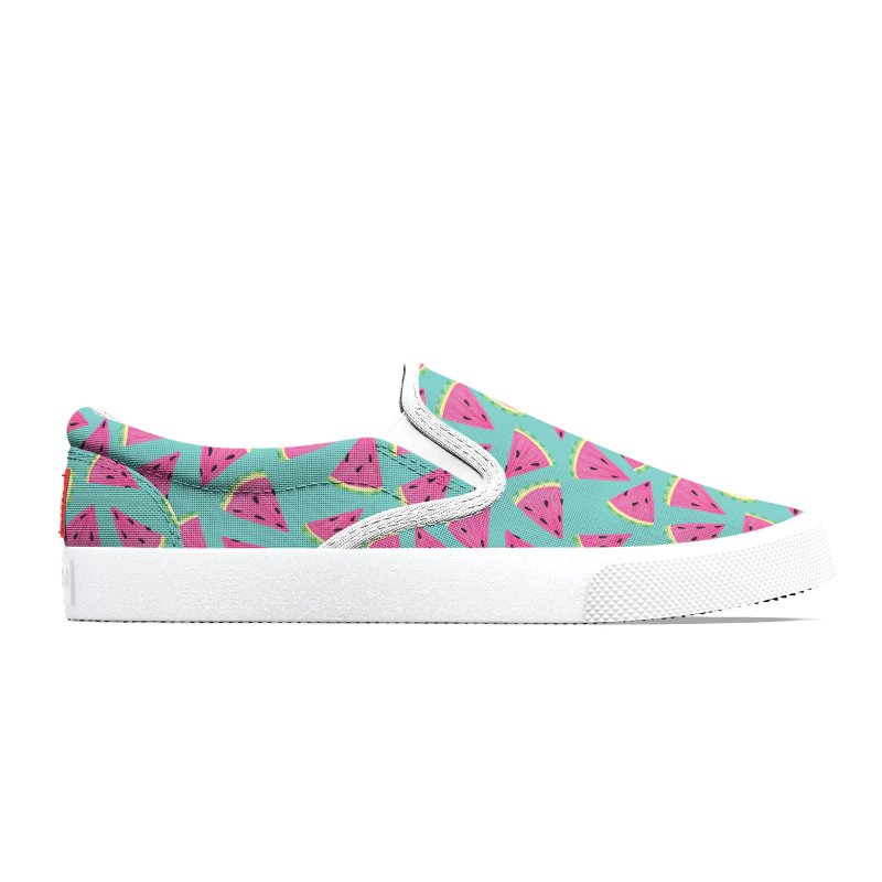 Watermelon Fruit Crush: Dark Mint Men's Shoes by Zoe Chapman Design