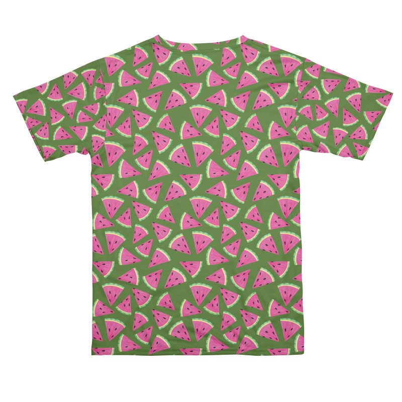 Watermelon Crush: Green Men's Cut & Sew by Zoe Chapman Design