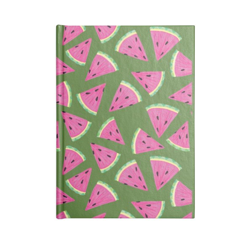 Watermelon Crush: Green Accessories Notebook by Zoe Chapman Design