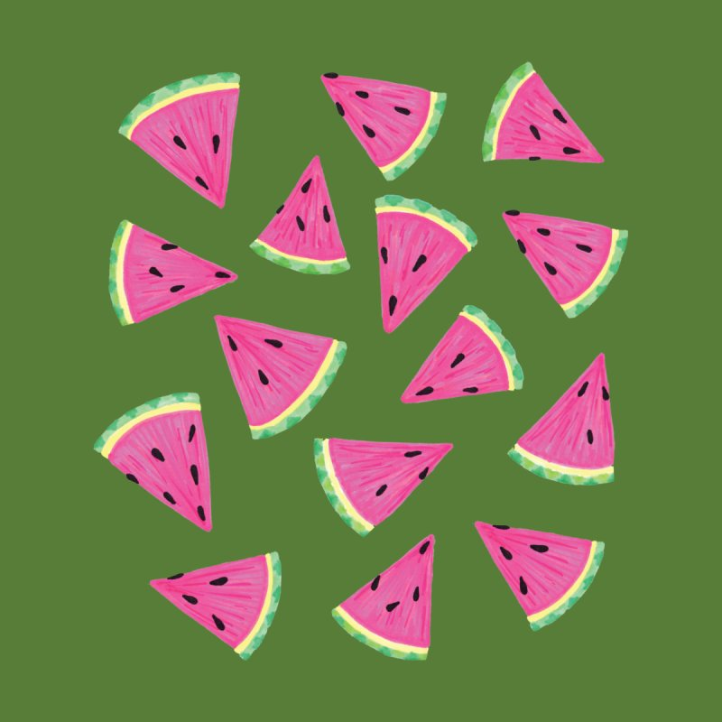 Watermelon Crush: Green Kids Baby T-Shirt by Zoe Chapman Design