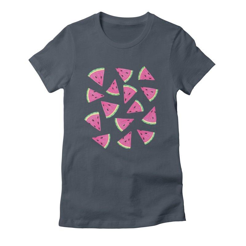 Watermelon Crush: Green Women's T-Shirt by Zoe Chapman Design
