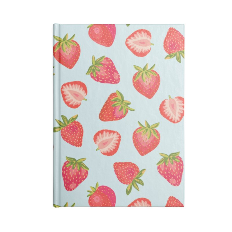 English Strawberries on Mint Accessories Notebook by Zoe Chapman Design