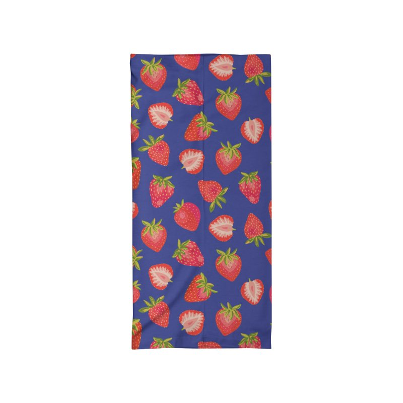 Summer Strawberries on Royal Blue Accessories Neck Gaiter by Zoe Chapman Design