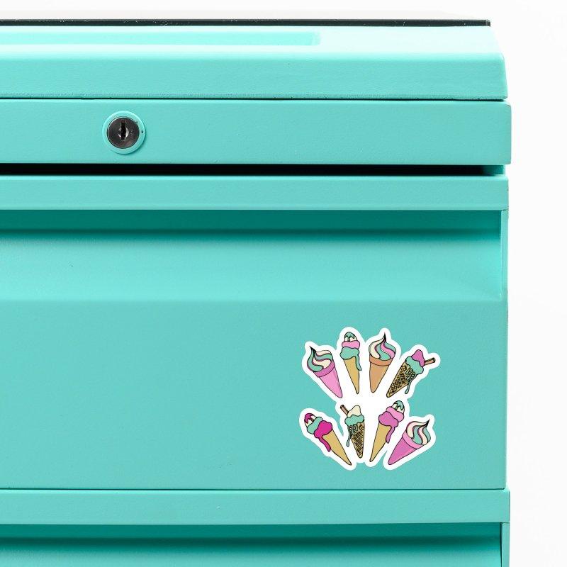 Ice Cream Days Accessories Magnet by Zoe Chapman Design