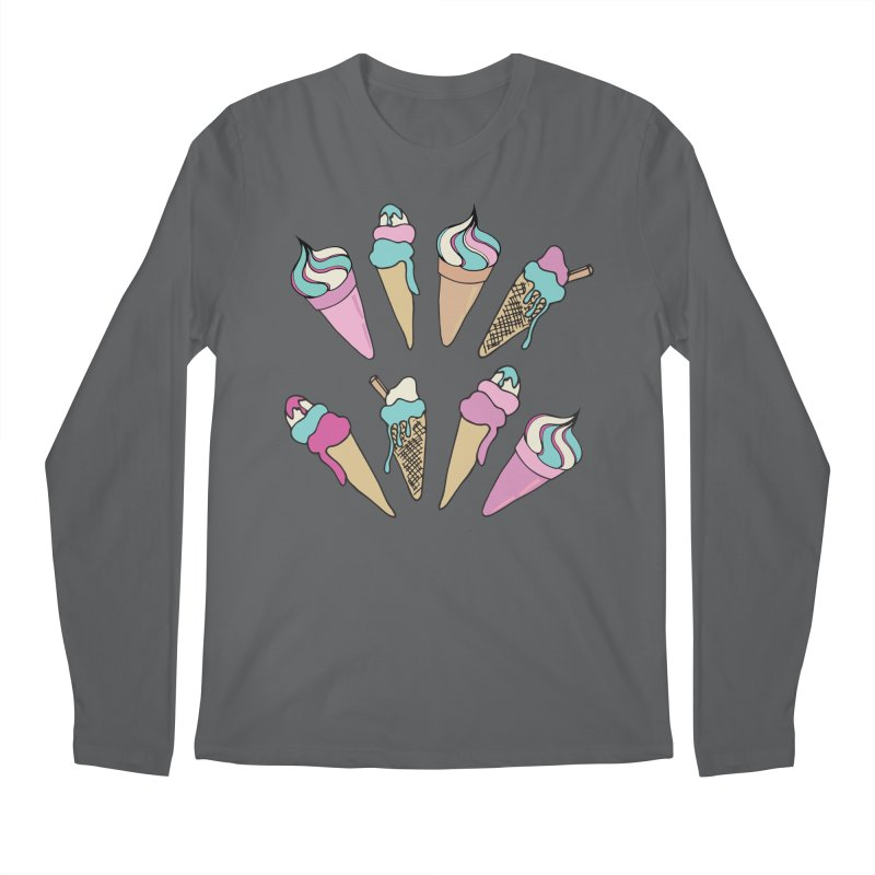 Ice Cream Days Men's Longsleeve T-Shirt by Zoe Chapman Design