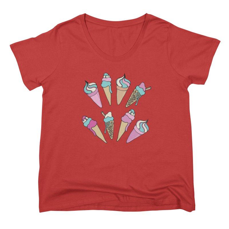 Ice Cream Days Women's Scoop Neck by Zoe Chapman Design