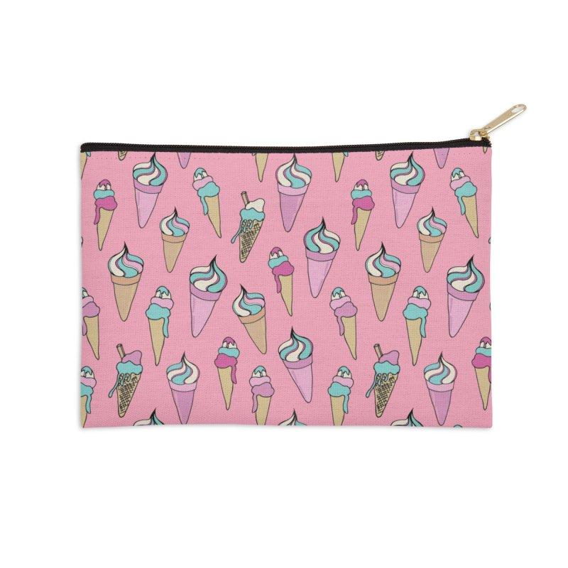 Ice Cream Days Accessories Zip Pouch by Zoe Chapman Design