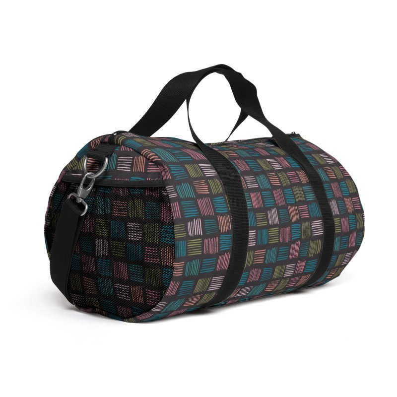 Geometric Hatch Lines Accessories Bag by Zoe Chapman Design