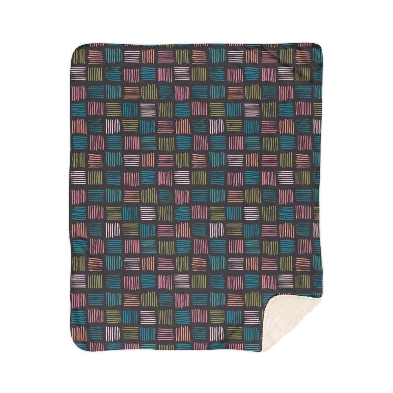 Geometric Hatch Lines Home Blanket by Zoe Chapman Design