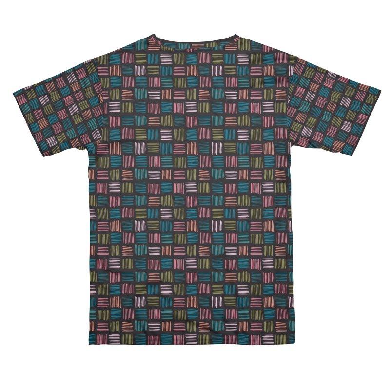 Geometric Hatch Lines Men's Cut & Sew by Zoe Chapman Design