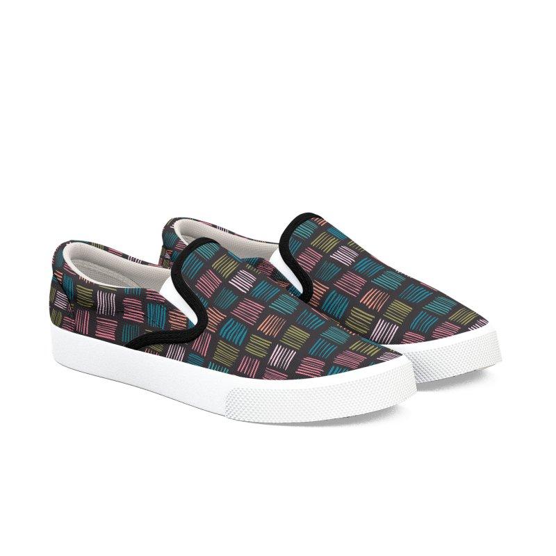 Geometric Hatch Lines Men's Shoes by Zoe Chapman Design