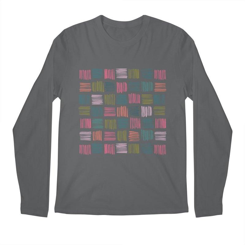 Geometric Hatch Lines Men's Longsleeve T-Shirt by Zoe Chapman Design