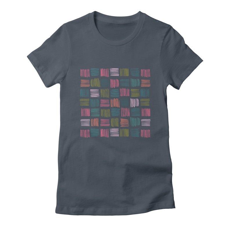 Geometric Hatch Lines Women's T-Shirt by Zoe Chapman Design