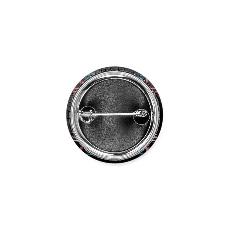 Geometric Hatch Lines Accessories Button by Zoe Chapman Design