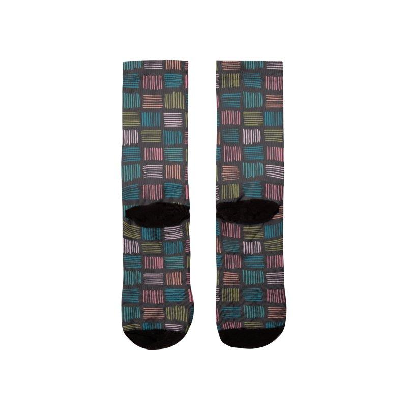 Geometric Hatch Lines Men's Socks by Zoe Chapman Design