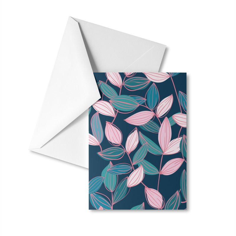 Leaf Lines Accessories Greeting Card by Zoe Chapman Design