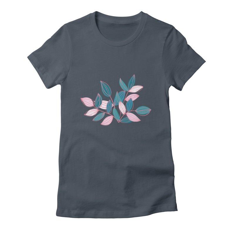 Leaf Lines Women's T-Shirt by Zoe Chapman Design
