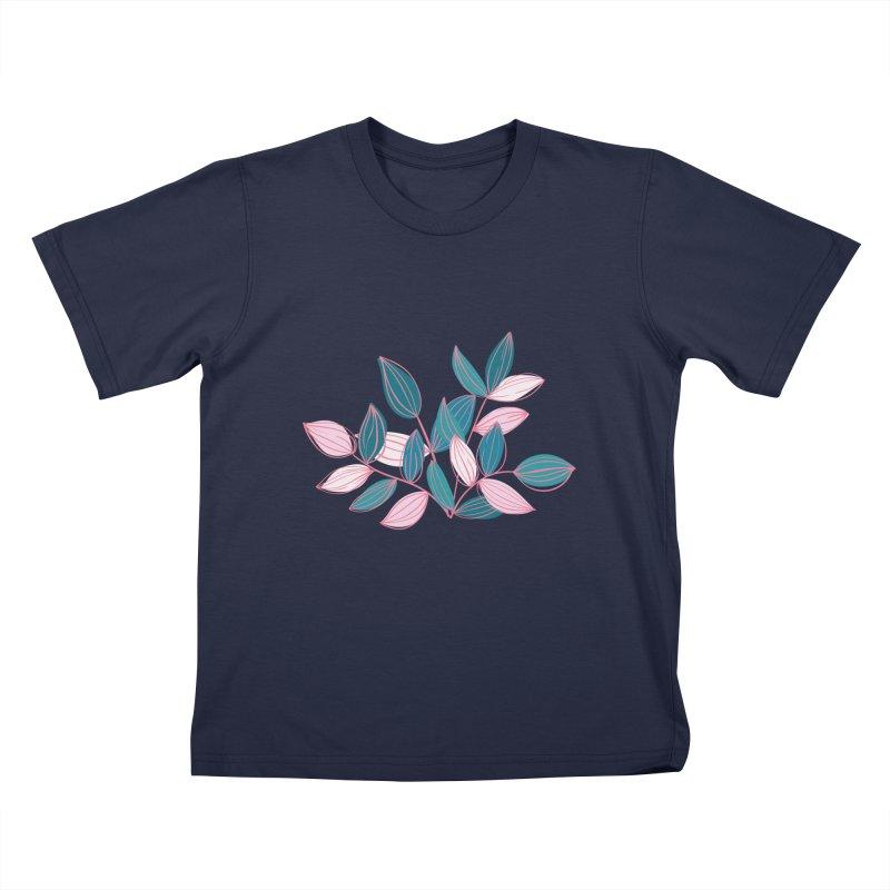 Leaf Lines Kids T-Shirt by Zoe Chapman Design